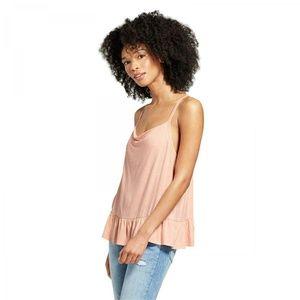 NWT Mossimo Peplum Cami Tank Top Shirt Small Pink